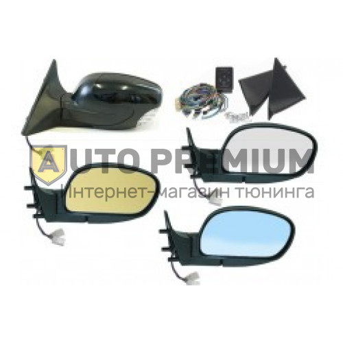 Боковые зеркала в цвет на ВАЗ 2110-2112 (НЛ-10УО) «Политех Волна» с антибликом, электроприводом, повторителем и обогревом