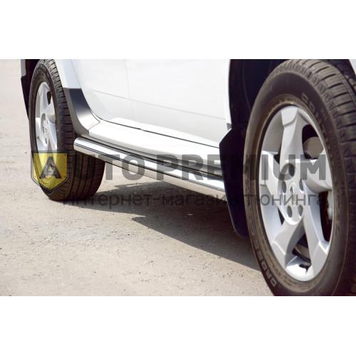 Защита порогов вогнутая Ø63 мм (НПС) Nissan Terrano с 2014